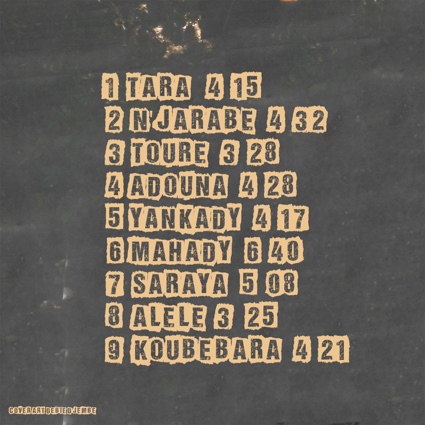 Adouna CD back inside cover Lansana Camara
